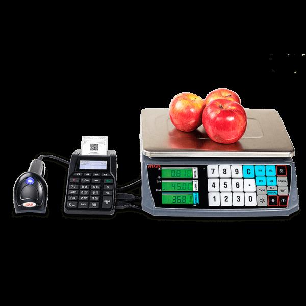 Атол 92Ф с электронными весами и сканером штрих-кода