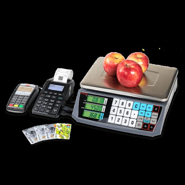 Атол 92Ф с электронными весами и банковским терминалом