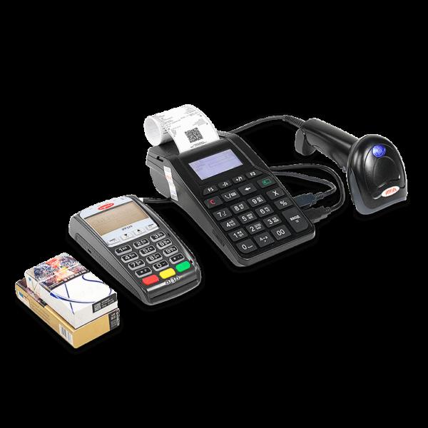 Атол 92Ф со сканером штрих-кода и банковским терминалом