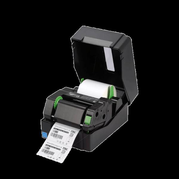 Принтер этикеток (термотрансферный, 203dpi) TSC TE200 открытая крышка