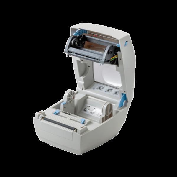 Принтер этикеток АТОЛ ТТ42 (термотрансферный, 203dpi) открытая крышка